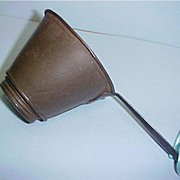 Primitive Antique Metal & Tin Strainer with Removable Screen