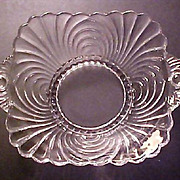 Vintage Elegant Cambridge Glass - Caprice Pattern Dish with Handles