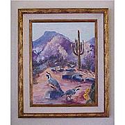 Arizona Plein Air Desert Landscape Original Oil Painting - Helen Briggs Abernathy Artist