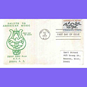 SALE FDC First Day Cover - Salute To Music 1964
