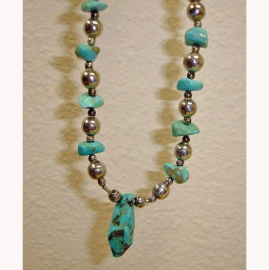 Vintage Turquoise Necklace 110