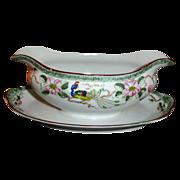 Nippon Porcelain Gravy Boat - Antique China Gravy Boat by Noritake - Bird of Paradise Pattern