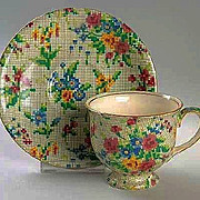 Royal Winton CHINTZ Tea Cup & Saucer – Queen Anne Pattern 1935-1936