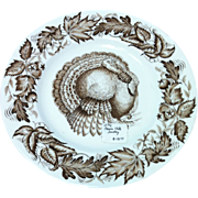 Vintage Clarice Cliff Autumn Foliage Turkey Plate