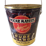 Vintage Oscar Mayer Approved Brand Lard Tin