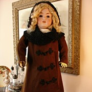 REDUCED Fabulous Antique French Coat, Bonnet and Shoes for Bebe!