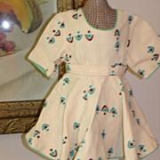 REDUCED Fabulous Vintage Linen Geometric Print Dress