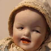 REDUCED Adorable, Tiny Antique Heubach Character Baby