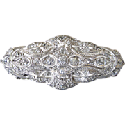 SALE Exquisite Edwardian Platinum and Diamond Brooch/Pin