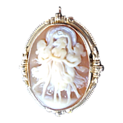 "SALE ESEMCO 14KYG, ""Three Graces"" Cameo"