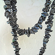 SALE Powerful, Gift of Nature, Hematite Strung Necklace