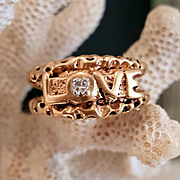 "Cool 10KYG, Diamond ""LOVE"" Ring"