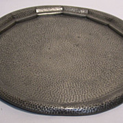 Knighthood Old English Hand Hammered Pewter Serving Tray