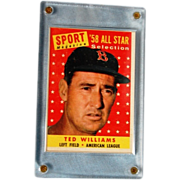 SALE Ted Williams 1958 All Star Card