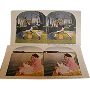 SALE Stereoview Cards Set of 2  Ingersoll