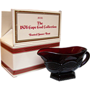 SALE Avon Cape Cod Footed Sauce Boat with Box