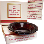SOLD Avon Cape Cod Cereal Soup Bowls set of 6