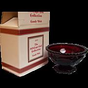 SALE Avon Candy Dish 1876 Cape Cod Ruby Boxed