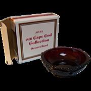 SALE Avon Dessert Bowl Cape Cod Ruby