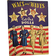 Paper Dolls Waves & Wacs World War II Complete Book 1943