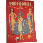 SALE Paper Dolls Beautiful Queens Whitman 1943