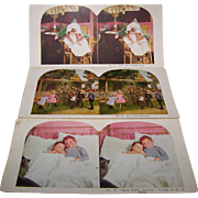SALE Stereo view Card set of 3