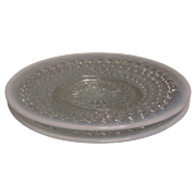 SALE Moonstone Opalescent Saucer  Set of 2