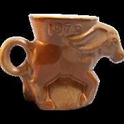 SALE Frankoma Political  Democrat Donkey Mug 1979