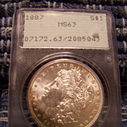SALE 1887 Morgan Silver Dollar PCGS MS-63