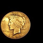 REDUCED 1922 Peace Dollar