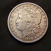 SALE 1902 Morgan Silver Dollar