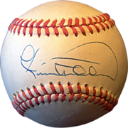 SALE Cecil Fielder Autographed Baseball