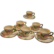 SALE Franciscan Desert Rose Demi cup and Saucer  Set of 6