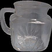 SALE Star Federal Glass Milk Pitcher