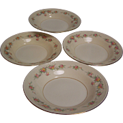 SALE Homer Laughlin Rimmed Soup Bowl Eggshell Georgian set of 4