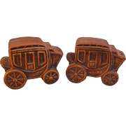 SALE Salt Pepper Stagecoach Shakers