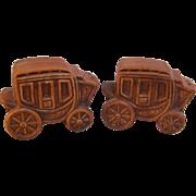 SALE Salt Pepper Stagecoach Shakers