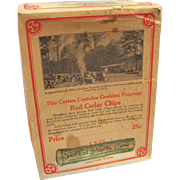 SALE Advertising Box  Cedar Chips E.R. Co