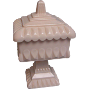 Westmoreland Shell Pink Compote with Lid
