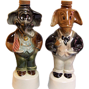 SALE Political Decanters Elephant Donkey Set of 2 1960
