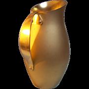 SALE Mirro Aluminum water pitcher gold tone