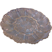SALE Glass Egg Plate Anchor Hocking