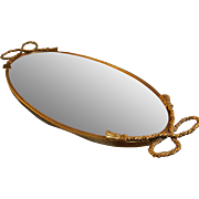 SALE Globe Vanity Mirror  24 kt Gold Plated