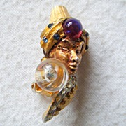 HAR Turbanned Genie Earrings, 'Crystal Ball'