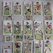 Part Set Vintage Players Cigarette Cards Football (Soccer) 1926