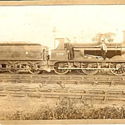 Late 19th Century Photo British Steam Railway Locomotive