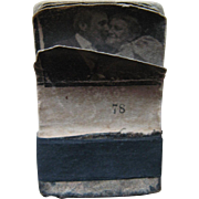 Late 19th or early 20th century Flicker Book Couple Kissing
