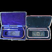 2 Vintage Haemacytometers, one by Leitz