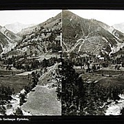 Ferrier Soulier Glass Stereoview French Pyrenees c1860