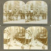 4 Edwardian Stereocards Royal Wedding in Madrid, Spain 1906